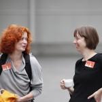 Katharina Hagg, Workshopbetreuerin und Ulrike Weber, Leiterin Projekt RLP