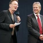 Moderator Fittkau und Holger Stürtz