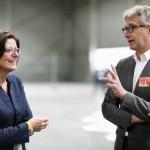Ministerpräsidentin Malu Dreyer im Gespräch mit Prof. Helmut-Kleinekraneburg, FB Architektur der TU Kaiserslautern